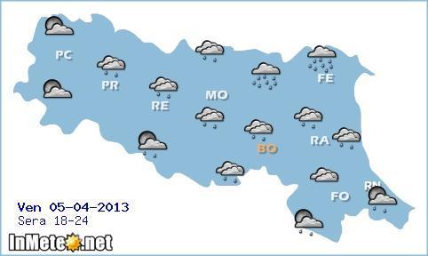 Emilia Romagna: miglioramento serale