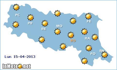 Emilia Romagna: meteo 15 APrile 2013