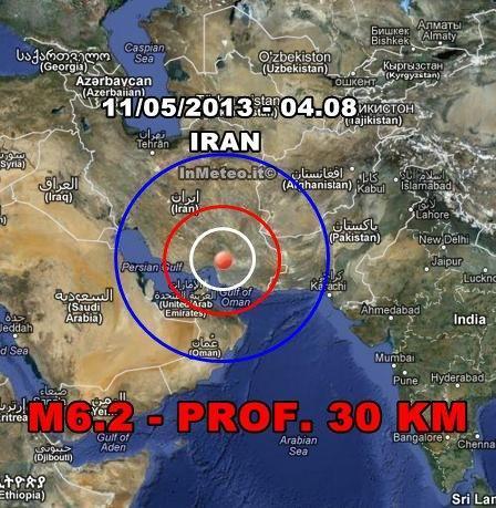 Terremoto Iran 11 Maggio 2013