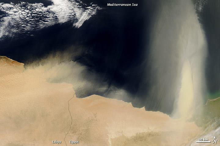 Sabbia in arrivo direttamente dall'Africa