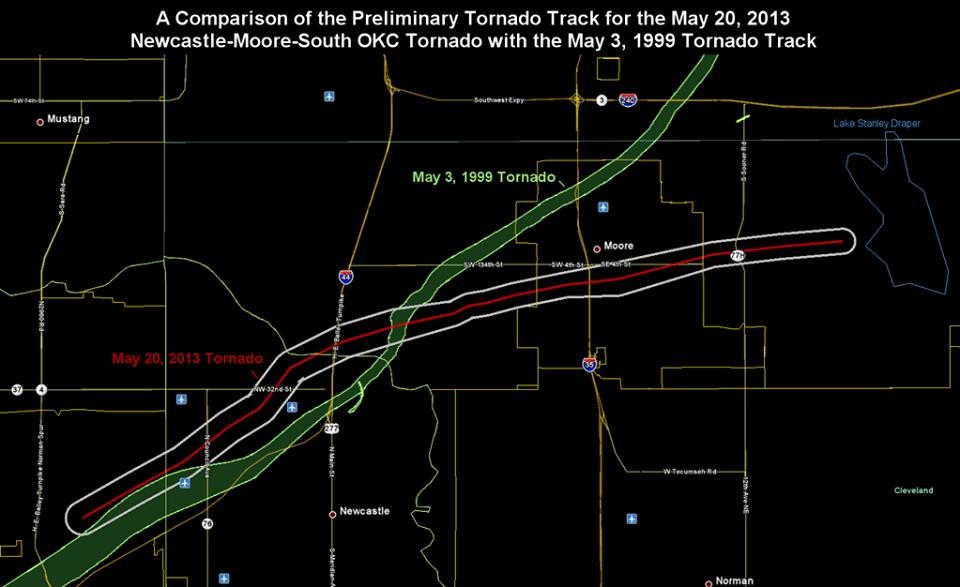 Moore nuovamente colpita da un Tornado EF5, come accaduto nel 1999
