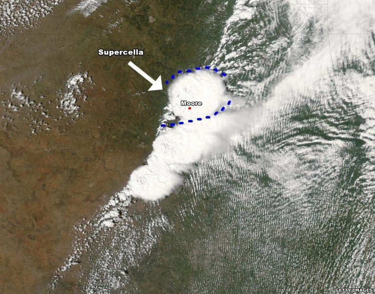 Ecco la supercella immortalata dal Satellite, che ha originato il Tornado EF5.
