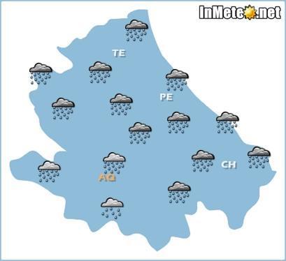 Abruzzo 23 Maggio 2013: allerta meteo per forti temporali e piogge specie sui settori centro-orientali