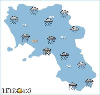 Campania: forte maltempo nella giornata di domani 23 Maggio, probabili nubifragi e forti temporali