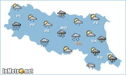 Emilia Romagna: nuovo peggioramento domani sera, ma solo su Romagna