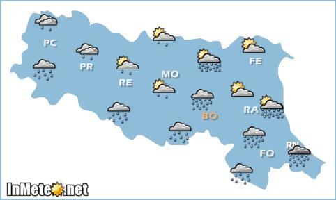 Emilia Romagna: previsioni grafiche 28 Maggio 2013
