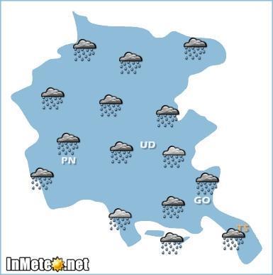 Friuli Venezia Giulia: previsioni grafiche domani 24 Maggio 2013