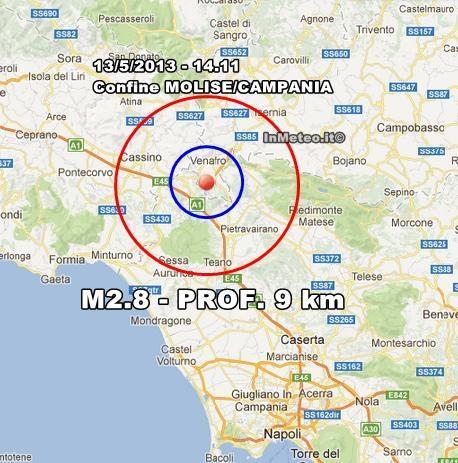 Terremoto Oggi 13 Maggio 2013