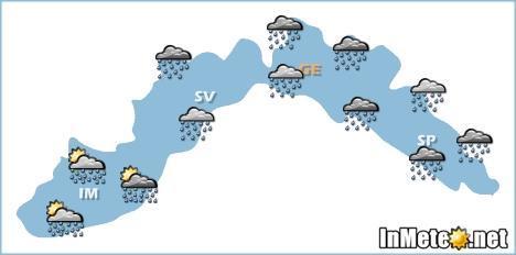 Liguria, maltempo in arrivo da Mercoledì