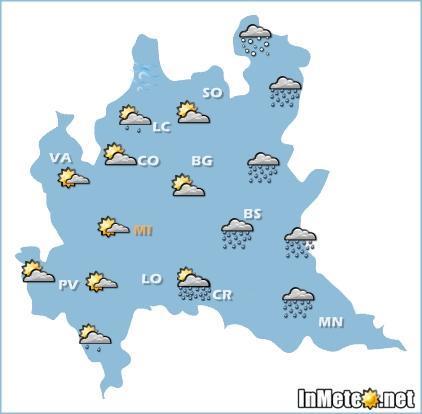 Lombardia: previsioni grafiche 24 Maggio 2013