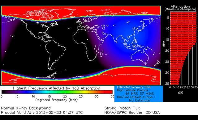 Impatto del vento solare col nostro pianeta - Grafico NOAA
