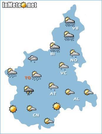Piemonte: maltempo fra pomeriggio-sera del 14 Maggio 2013