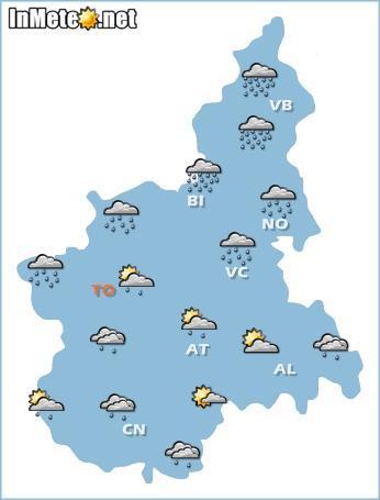 Piemonte: previsioni grafiche 28 Maggio 2013