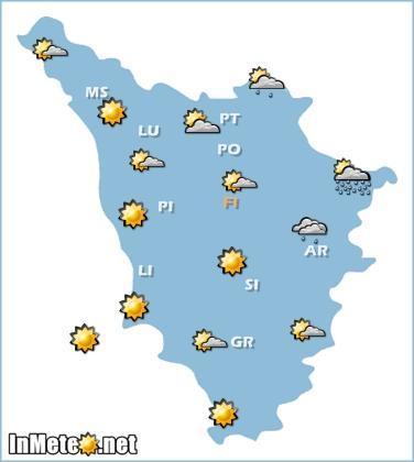 Toscana, previsioni meteo 12 Maggio 2013