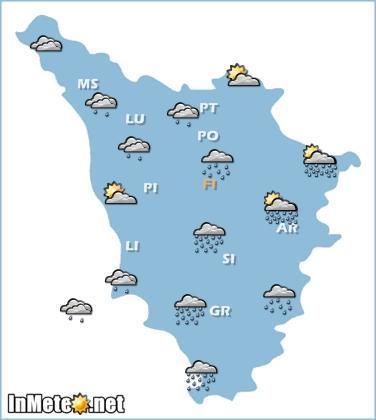 Toscana: previsioni grafiche domani 28 Maggio 2013
