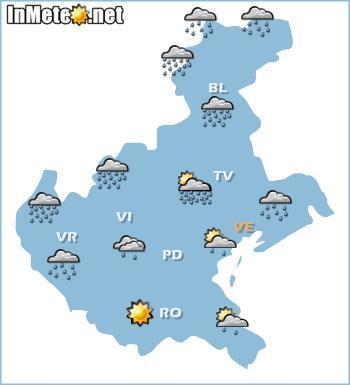 Veneto domani: previsioni grafiche 20 Maggio 2013