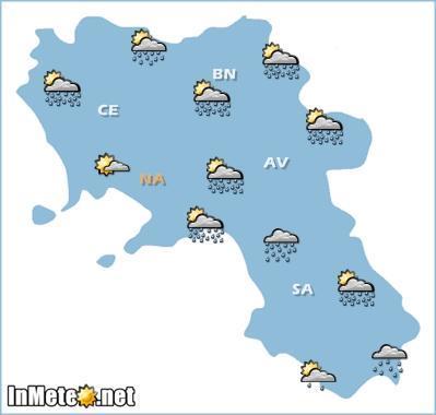 Campania: peggioramento con rovesci e temporali domani