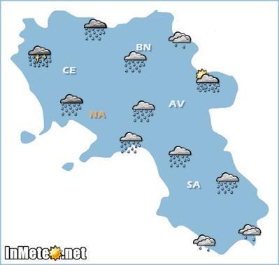 Campania: previsioni grafiche per oggi