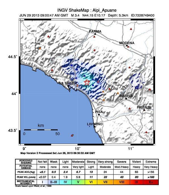 Terremoto Lunigiana ore 11.00 - M3.4