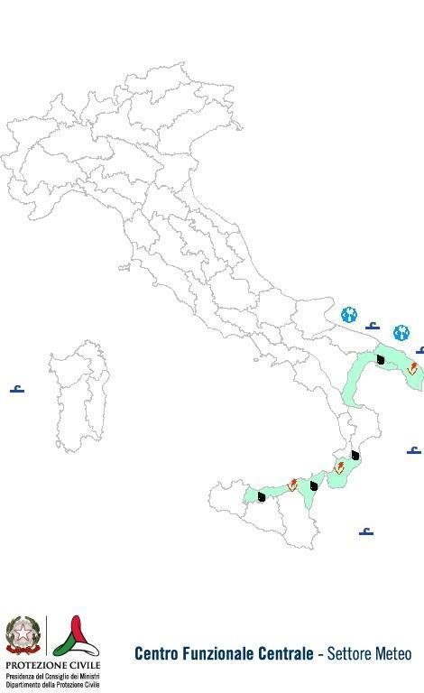 Previsioni meteo 30 Giugno 2013 Italia: Bollettino della Protezione Civile. Fonte: www.protezionecivile.gov.it