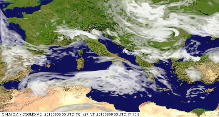 Previsioni Meteo Aeronautica Militare Giovedì 6 Giugno 2013. Fonte: meteoam.itder