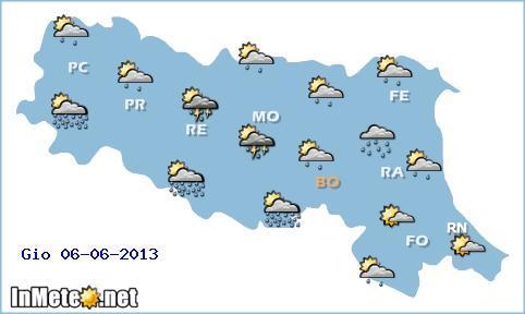 Emilia Romagna: instabilità diffusa domani, poi migliora nel week end con caldo e sole
