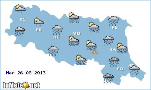 Emilia Romagna: giornate instabili con temporali spesso di forte intensità attendono la regione