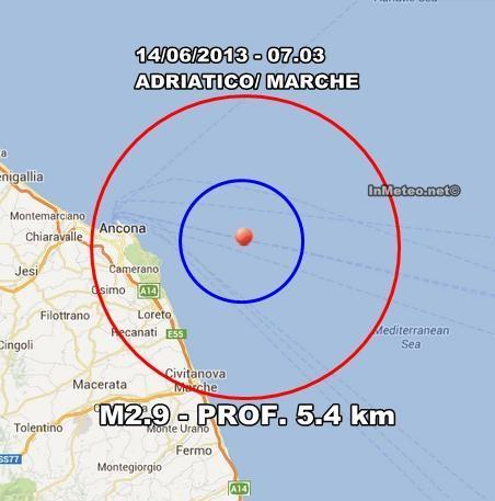 INGV Terremoto Oggi : Scossa avvertita ad Ancona