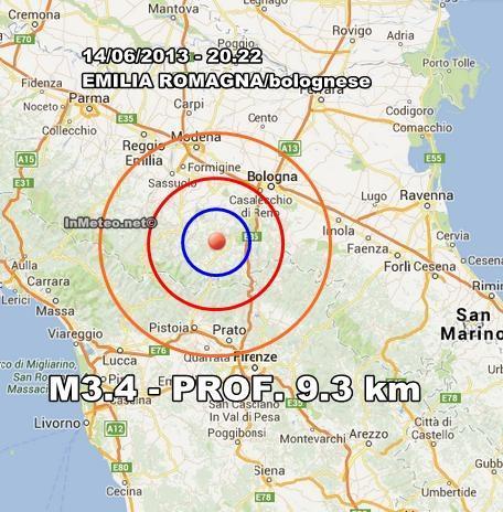 Terremoto Oggi 14 Giugno : Moderata scossa in Emilia Romagna