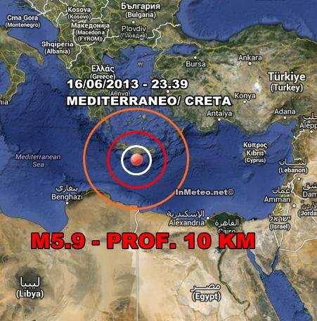 Terremoto Creta : Nuova violenta scossa di terremoto