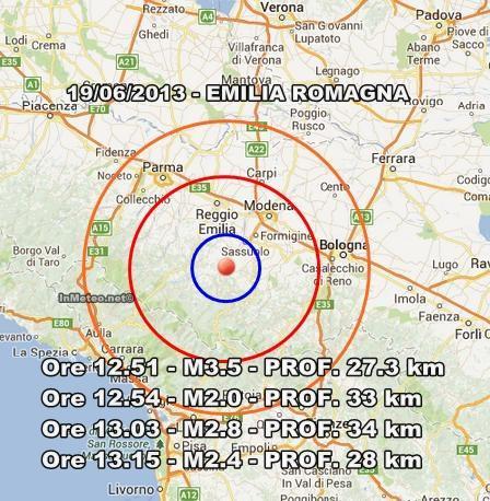 Terremoto Emilia Romagna : Sequenza sismica in atto