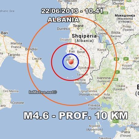 Terremoto Albania-Puglia Oggi