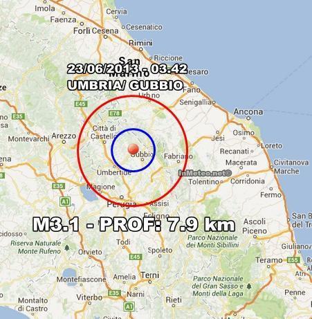 INGV Terremoto Oggi : Scosse in tempo reale 23 Giugno 2013