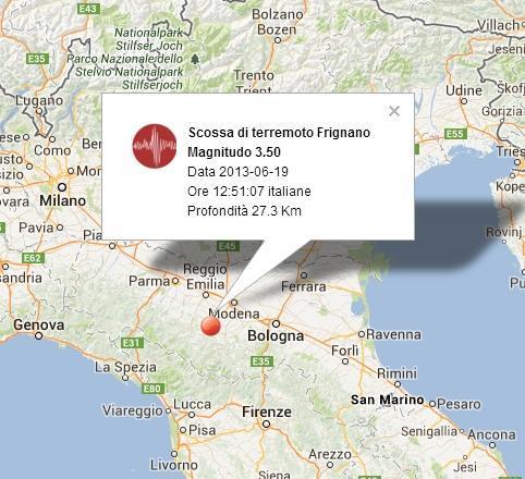 Terremoto Frignano, Appennino modenese, ecco i dettagli