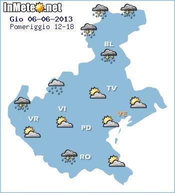 Veneto, previsioni meteo fino a 7 giorni