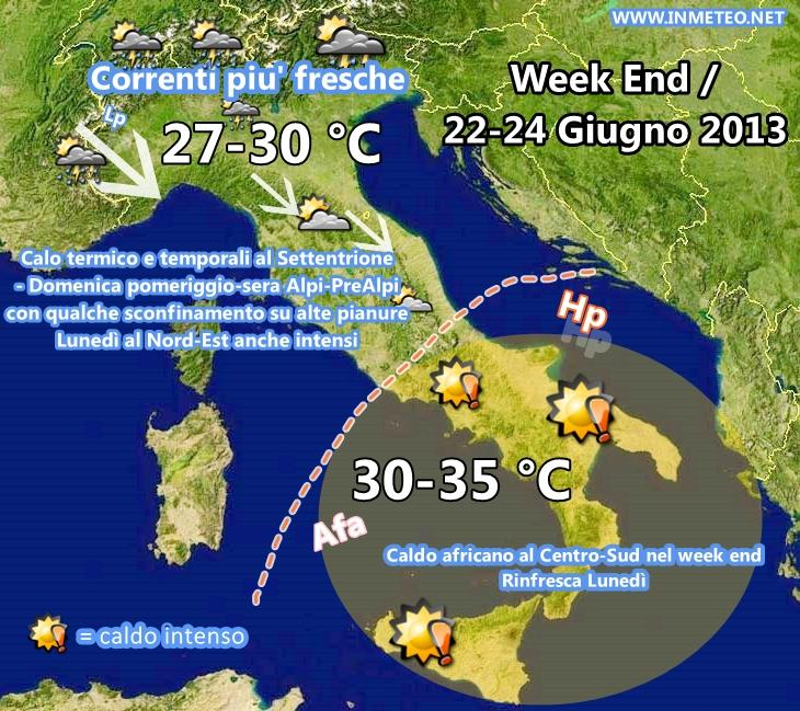 Meteo Italia week end: Rinfrescata e temporali in arrivo