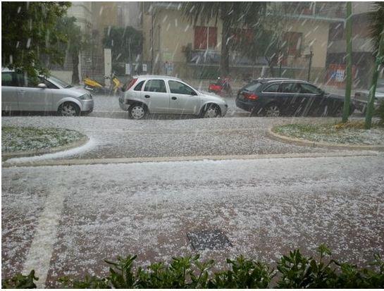 Abruzzo : Violenta grandinata su Pescara
