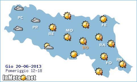 Emilia Romagna: caldo intenso fino a Giovedì, poi rinfresca un pò