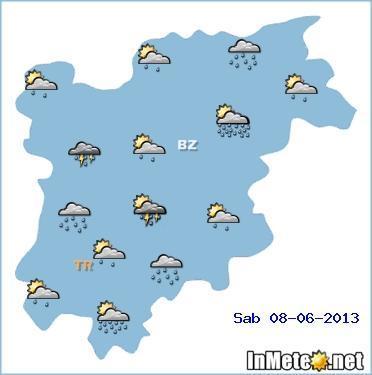 Trentino Alto Adige: diffusa instabilità nel corso del fine settimana