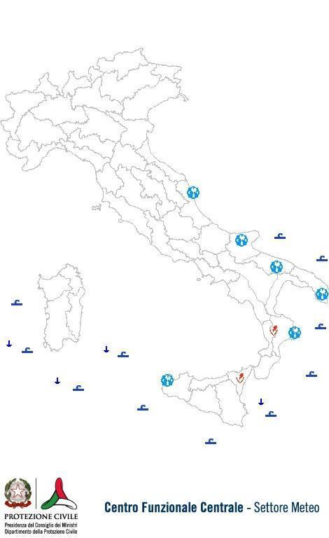 Previsioni meteo 31 Luglio 2013 Italia: Bollettino della Protezione Civile. Fonte: www.protezionecivile.gov.it