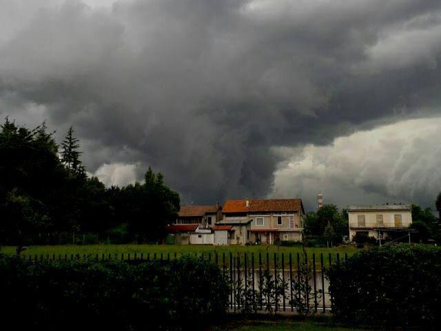 Tornado su Bergamo oggi pomeriggio