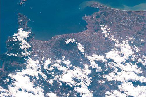 Costa napoletana e il Vesuvio - Foto di Luca Parmitano