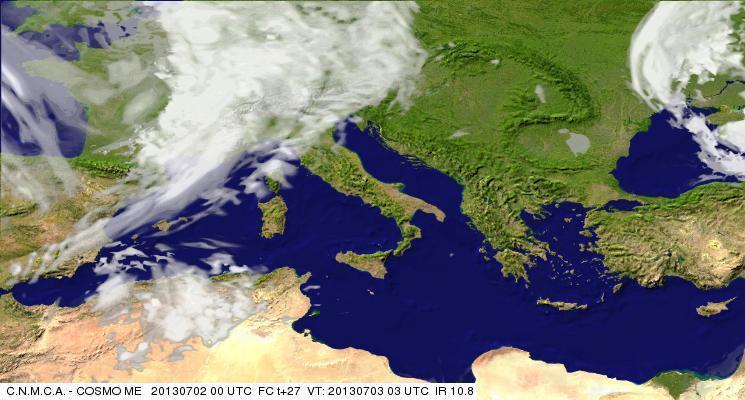 Previsioni Meteo Aeronautica Militare Mercoledì 3 Luglio 2013. Fonte: meteoam.itder