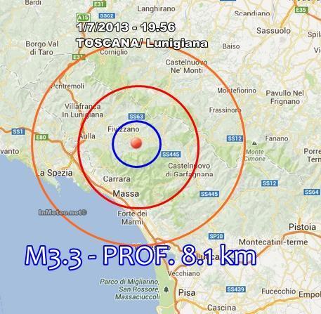 INGV Terremoto Toscana : Nuova scossa avvertita