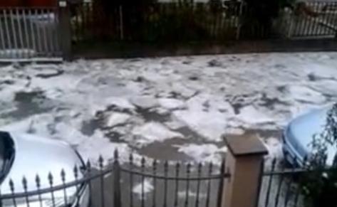 Mantova : Fiumi di ghiaccio per le strade di Viadana