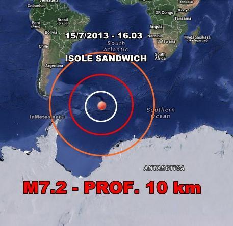 Isole Sandwich : Violento sisma scuote l'Oceano
