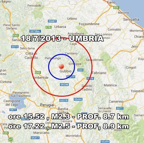 Terremoto Umbria Oggi : Due scosse lievemente avvertite