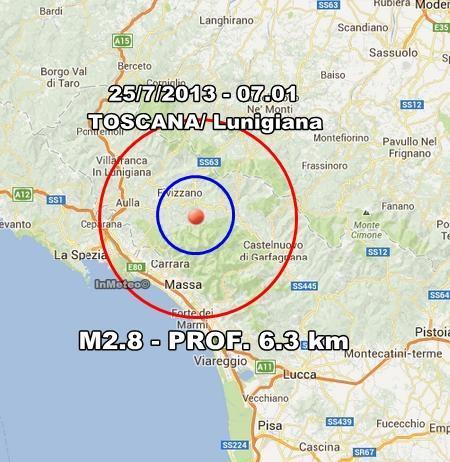 INGV Terremoto Oggi : Monitoraggio del 25 Luglio 2013