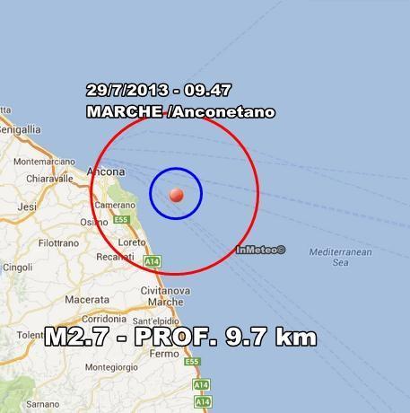 INGV Terremoto Oggi : Scosse in tempo reale 29 Luglio