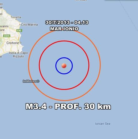 INGV Terremoto Oggi : Monitoraggio sismico 30 Luglio